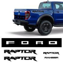 Kit Adesivos Ranger Raptor + Faixa Traseira Ford e Emblemas - Sportinox