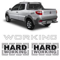Kit Adesivos Strada Hard Working + Faixa Traseira Prata - Sportinox