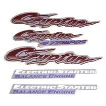 Kit Adesivos Yamaha Crypton 2001 Prata LBM -