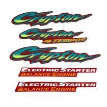 Kit Adesivos Yamaha Crypton 2001 Vermelho LBM -
