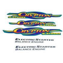Kit Adesivos Yamaha Crypton 2003 Verde LBM -
