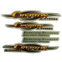 Kit Adesivos Yamaha Crypton 2004 Bege LBM -