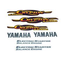 Kit Adesivos Yamaha Crypton 2004 Vermelha LBM -