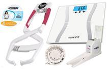 Kit Adipômetro clínico Prime Med + Balança + estadiômetro com trena e software avaliação física -