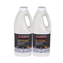 Kit Aditivado E Alcalino Detergente Desincrustante Finisher 2 Litros -