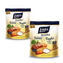Kit Adoçante Culinário Sucralose Linea 400g Forno e Fogão 2 Unidades -