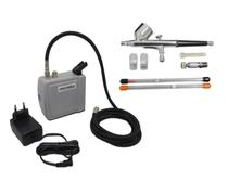 Kit Aerografia Mini Compressor + Aerógrafo C/ 3 bicos e Acessórios Onetools -