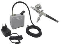 Kit Aerografia Mini Compressor + Aerógrafo Copo Fixo 0,5 OneTools -