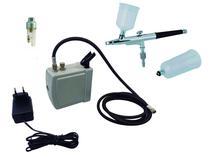 Kit Aerografia ONETOOLS - Mini Compressor + Aerógrafo 0,3mm 2 Canecas + Mini Filtro -