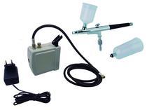 Kit Aerografia ONETOOLS - Mini Compressor + Aerógrafo 0,3mm 2 Canecas -