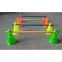 Kit agilidade 8 cones com barreira rythmoon -