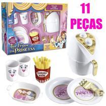 Kit air fryer branca brinquedo batatinha princesa infantil - ZUCA TOYS