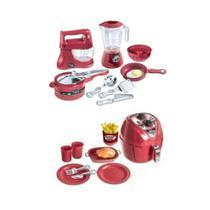 Kit Air Fryer Brinquedo Infantil + Litlle Chef Cozinha Kids - Zuca Toys