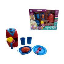 Kit air fryer happy food colorido com batatinhas e acessorios divertidos - Zuca Toys