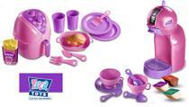 Kit Air fryer + Maquinha Espresso Show Completo 26 peças Zuca Toys 7645 + 7650 -