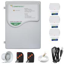 Kit Alarme Residencial 1 Sensor Com 3 Sensores Magnéticos Porta Janela Compatec -