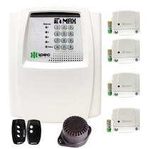 Kit Alarme Residencial 4 Magnéticos + 1 Sirene + 2 Controles - Ipec