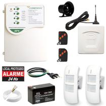 Kit Alarme Residencial Externo Gsm 2 Sensores Infra Duplo - Compatec