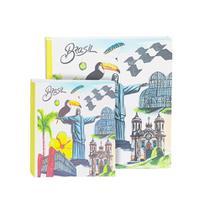 Kit álbum 300 fotos e 500 fotos brasil cristo ical -