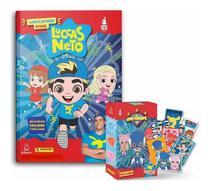 Kit Álbum Luccas Neto Oficial + 40 Figurinhas + 10 Cards + Porta Cards Panini -