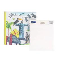 Kit Álbum Mega 500 fotos Mega Cristo + Refil de folhas Ical -