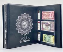 Kit Álbum tipo Fichário Cédulas do Mundo + 30 folhas - Completei