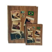 Kit Álbum Viagem Rebites Câmera 500 Fotos+ Brinde - Ical