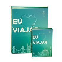Kit Álbum Viagem Rebites Eu Amo Viajar 500 Fotos+ Brinde - Ical