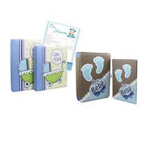 Kit Álbuns 15x21 e 20x25 Premium Bebê 2 unid c/ Brinde - Tudoprafoto