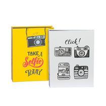 Kit Álbuns Folha preta 160 fotos Take Selfie e Click - Ical