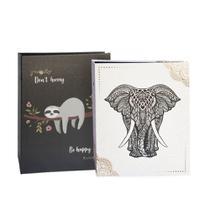 Kit álbuns folhas preta 160 fotos elefante e preguiça 10x15 - Ical