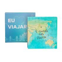 Kit Albúns Mega Amo Viajar + Mundo 500 Fotos 10x15 Ical -