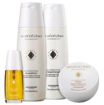 Kit Alfaparf SDL Cristalli Shine com Shampoo 250ml+ Cond 250ml + Másc 200g + Cristalli Liquid 30ml - Alfaparf Milano