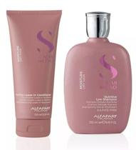 Kit Alfaparf Semi Di Lino Moisture Shampoo Condicionador -