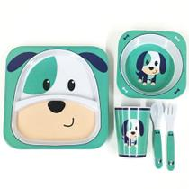 Kit Alimentação Infantil 5 Peças Cachorrinho Liro Unik Toys -