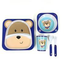 Kit Alimentação Infantil 5 Peças Urso Sibério Unik Toys -