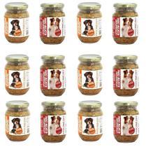 Kit Alimento 100% Natural Úmido Sem Conservantes Cães 12 Pote Pró Pet 230g Galinhada e Carne Ração - Pote Pro Pet