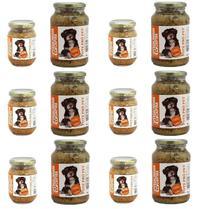 Kit Alimento 100% Natural Úmido Sem Conservantes Cães 12 un Pote Pró Pet 535g e 230g Galinhada Ração - Pote Pro Pet
