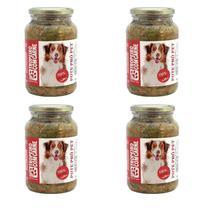 Kit Alimento 100% Natural Úmido Sem Conservantes Cães Cachorro 4 un Pote Pró Pet 535g Carne Ração - Pote Pro Pet