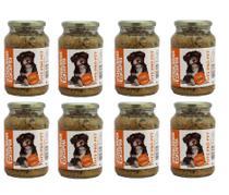 Kit Alimento 100% Natural Úmido Sem Conservantes Cães Cachorro 8 Pote Pró Pet 535g Galinhada Ração - Pote Pro Pet