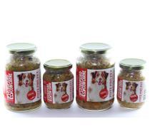 Kit alimento natural úmido cão 6 Pote Pró Pet carne ração - Pote Pro Pet