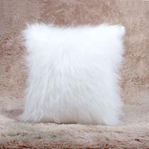Kit Almofada Branca Peluda 2 Unidades 45cm com Refil de Silicone Macio - Moda Casa Enxovais