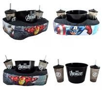 Kit Almofada Porta Pipoca Copos Avengers Marvel Vingadores - Zona criativa