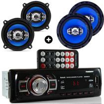 Kit Alto Falante 5 E 6 Pol + Radio Usb Bluetooth Gol G2 G3 - Orion