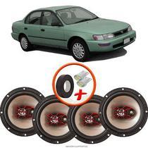 """Kit Alto Falante Bravox Toyota Corolla 6x6"""" B3X60X 200W RMS 4 Ohms Triaxial -"""