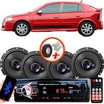"Kit Alto Falante Pioneer GM Astra Ts-1760br 6x6"" 200W RMS 4 Ohms Triaxial Bobina Simples  + Rádio Com Bluetooth - Kit Delparts"