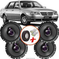 "Kit Alto Falante Pioneer VW Santana Ts-1760br 6x6"" 200W RMS 4 Ohms Triaxial Bobina Simples -"