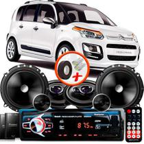 "Kit Alto Falante Pionner Citroen C3 Picasso Ts-1360br + TS-C170BR 5X6"" 220W RMS + Tweeters + Crossovers + Rádio Com Bluetooth - Pioneer"