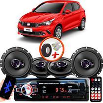 """Kit Alto Falante Pionner Fiat Argo Ts-1360br + TS-1760BR 5X6"""" 200W RMS 4 Ohms Triaxial Bobina Simples + Rádio Com Bluetooth - Pioneer"""