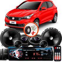 "Kit Alto Falante Pionner Fiat Argo Ts-1360br + TS-C170BR 5X6"" 220W RMS + Tweeters + Crossovers + Rádio Com Bluetooth - Pioneer"